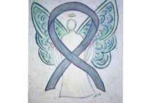 Gray Awareness Ribbon Support and Art Gifts / A gray awareness ribbon color means support for borderline personality disorder, diabetes, brain cancer, and asthma.  Let this grey awareness ribbon help support these causes!
