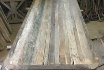 Reclaimed oak table top