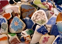 Beautiful~*~Beach~*~Pottery / My favorite beach combing finds are the pieces of old plates, cups or any dish. I like trying to find out who the maker was and find a picture of the whole piece. / by Kathi Artigliere