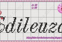 Escrever Elisa em ponto de cruz