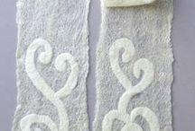 Wet felt -scarves