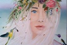 Oil paintings, acrylic, pastel and pencil. Author Marija Holubieva.