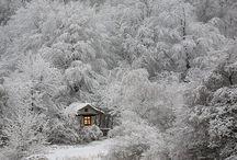 Zimowo. / Piękna zima, pełna śniegu.
