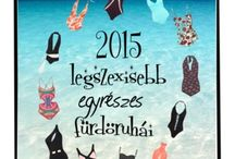 ☕  Szexi egyrészes fürdőruhák 2015 nyár  ☕