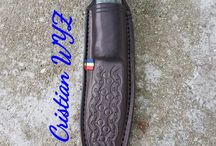Vegetable leather sheath