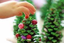 kerst / alles wat (n)iets met kerst te maken  jezus, dennengroen en kersthapjes