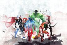 Superhelden Kunstdruck