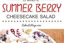 summer Berry cheesecake fruit salad
