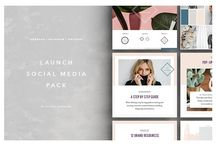 Social Media Graphics Kits / Graphics are important for your blog and social media. Save time and build a cohesive brand with these social media graphics templates and kits.