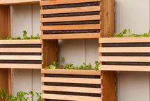 Vertical garden boxes