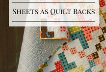 Quilt backing - ideas  different patterns as well as using a sheet