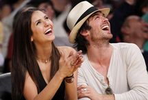 Nina Dobrev and Ian Somerhalder / I know sadly that Nina Dobrev and Ian Somerhalder split up ages ago and that Ian is married to Nikki and have a kid but Ian and Nina were such a great couple! And I hope they become close again like they did in The Vampire Diaries ❤️