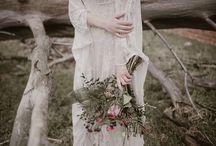 Novias | Bourguignon & Otaduy / Preciosa producción en colaboración con la marca de vestidos de novia Otaduy. Fotografía de Marina Palacios.