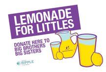 #LemonadeForLittles / #LemonadeForLittles is a summertime fundraiser for Big Brothers Big Sisters of America and Big Brothers Big Sisters of Canada.