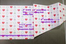 skirt fold cards