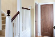 Walnut Inlay 1 Panel Doors