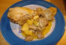 pollo al forno con patate e funghi