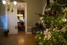 Winter Wedding Inspiration / Christmas trees, twinkling dancefloors, lit fires, uplighting... wedding inspiration from Surrey wedding venue Nonsuch Mansion