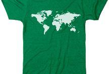 World map clothing