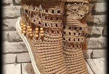 virkatut kengät
