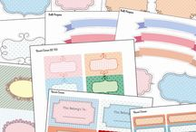 Labels en printables en stempels