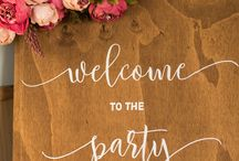 Inspired Weddings Wooden Signs
