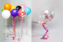 Let's decor a party! / Ballons, confetti, papercraft and colour