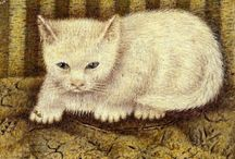 "Cat Art - Sal Meijer / Salomon ""Sal"" Meijer (Amsterdam, December 6, 1877 - Blaricum, February 1, 1965) was a Dutch painter, primarily known for his paintings of cats and Amsterdam city views. Sal or ""Sally"" Meijer was born at Zwanenburgwal 10 as the son of Jewish diamond-cutters. In his youth, he worked in the diamond industry while studying art. He devoted himself fulltime to painting in 1914. His first one-man exhibition was in 1926."