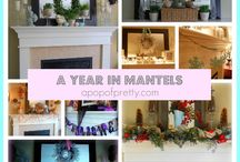 Mantle Inspiration / Things to put on your mantle all year round