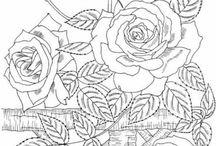 stencil fiori