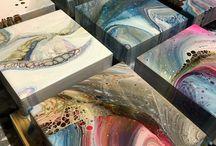 Fluid acrylic painting resin