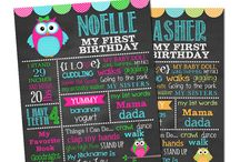 Owl Birthday Party / Owl birthday party party ideas owl birthday chalkboard sign favorite things sign party themes
