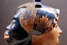 Temporanea / Mesopotamian cup - Mesopotamian art - Sumerian vase - Mesopotamian vase - Sumerian cup - Roman fresco with theatrical mask