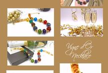 Lyn Foley:  Champagne and Bubbles Collection / Glass bubble bead jewelry by artist Lyn Foley. Elegant. Inspired. You will sparkle like the bubbles in champagne when wearing this jewelry.