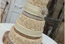 burlap and rustic