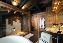 Salle de bain Chalet etage / Detail d'amenagement