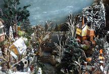 Christmas Village of Bianca Visser / Vous connaissez ma passion pour les villages de noël, en voici un autre magnifique, avec une très belle ambiance comme je les aime...bonne ballade dans ce monde miniature...