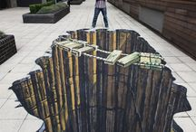 3d Chalk Art in the Plaza