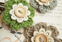 Crochet complementos para el pelo