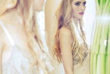 Bride behind the scenes / Creative Director: Rowena Bahl. Photographer: Alyssa Jouk. Model: Georgie