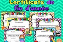 Certificats / diplômes