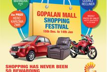 Gopalan Mall Shopping Festival Starting from 15th Dec 2014 to 14th Jan 2015 / After a strong hold in residential we at Gopalan have Venturesd in commercial and successfully completed projects like Millennium Towers in Brookfields were we have renowned clients like Transworks and i-Flex and also we have a commercial project called Promenade in Banashankari 3rd Stage which is completed and we have Big Bazaar as our client and that is when we stand up and bring to the people of Bangalore the 3 ways to shop with us.