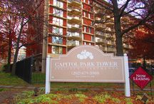 Capitol Park Tower / Each apartment home boasts spacious floorplans, beautiful, parquet hardwood flooring, large closets and windows and upgraded appliances. #301GStreet Check it out at UIPPM.com!