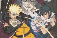 Naruto Artbook / colourful illustrations by kishimoto  naruto sasuke kakashi  sakura ....