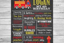 Fire Truck / Fireman Birthday Party