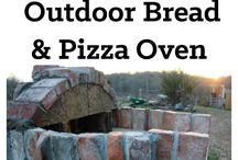 outside pizza oven