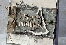 A Christmas card ore a gift tag / Inspiration to make Christmas cards and gift tags.