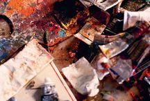 In the Studio / Art studio dreams. Art inspiration.  / by Anne Bradford Spencer