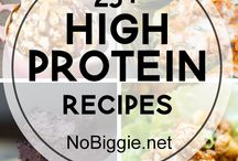 High pro/high carb meals