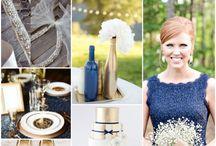 Paleta de cores / inspirações de combinações de cores para o casamento